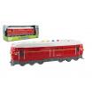 Teddies Lokomotiva/Vlak červená plast 34cm na baterie se zvukem se světlem v krabičce 41x16x12cm
