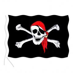 vlajka pirátská 90 x150 cm