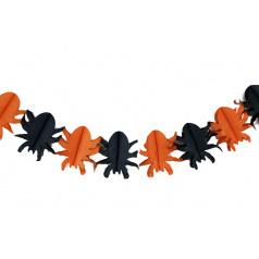 gerlandina papírová Halloween pavouk,4 m