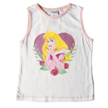 """Tričko dívčí bez rukávů """"Princess"""" bílé, vel. 12"""