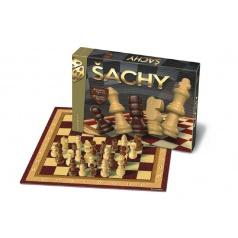Bonaparte Šach drevené figúrky spoločenská hra v krabici 33x23x3cm