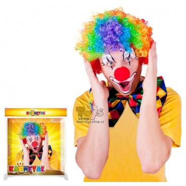 paruka klaun barevná dospělá