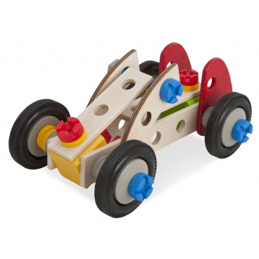 Simba HEROS Constructor Racer, 3 modely dřevěná stavebnice