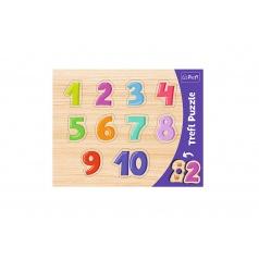 trefl Vkládačka/Puzzle obrysové čísla 37x29 v sáčku