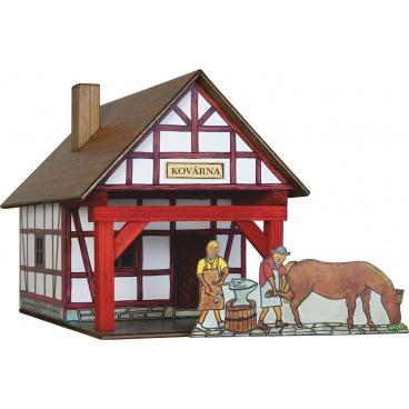 Walachia dřevěná stavebnice - Hrázděná kovárna
