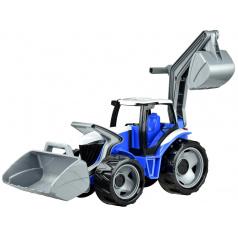 LENA Traktor se lžící a bagrem - pouze modro šedý