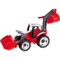 LENA Traktor se lžící a bagrem červený / modro šedý