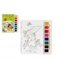 Akim Maľovanky Krtko s vodovými farbami a štetcom