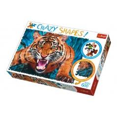 Trefl Puzzle Tvárou v Tvár Tigrovi 600 dielikov Crazy Shapes 68x48cm v krabici 40x27x6cm