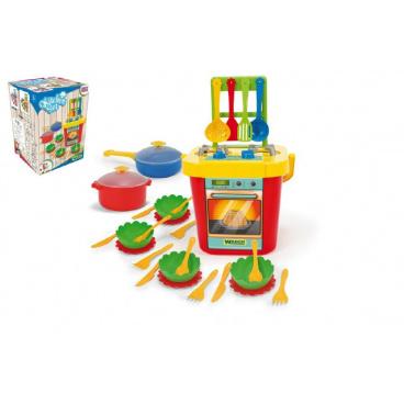 WADER Kuchyň s nádobím plast 31ks v krabici 30x43x30xcm Party World Wader