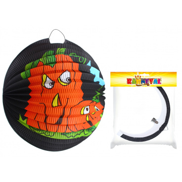 Rappa Lampion Halloween tmavý kulatý - dýně 25cm