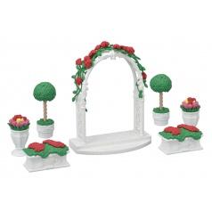 Sylvanian Families 5361 Město - květinová výzdoba s bránou