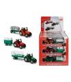 Dickie Traktor kovový s přívěsem 18 cm, DP12, 3 druhy