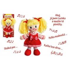 Teddies panenka Lucinka hadrová plyš 30 cm česky zpívající na kartě