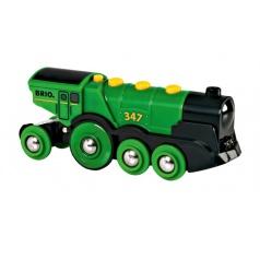 BRIO 33593 Mohutná elektrická zelená lokomotiva se světly