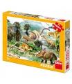 Dino dětské puzzle Život dinosaurů 100DXL