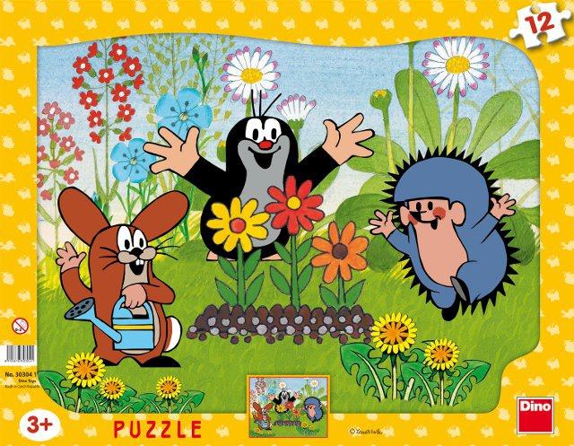 DINO dětské puzzle Krteček zahradník 12D
