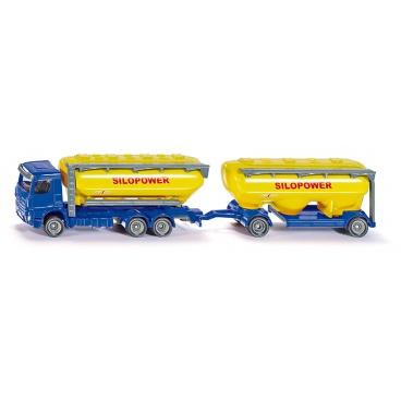 SIKU Farmer - kamion s přívěsem pro krmivo 1:87