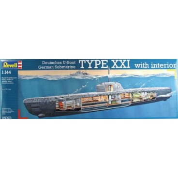 Revell Plastic modelKit ponorka 05078 - Deutsches U-Boot Typ XXI mit Interieur (1:144)