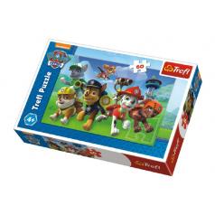 Trefl Puzzle Paw Patrol Připraveni do akce 33x22cm 60 dílků v krabici 21x14x4cm