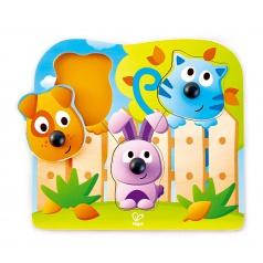Hape Puzzle s úchytkami - Domácí zvířátka