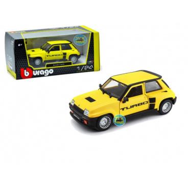 Bburago 1:24 Plus Renault 5 Turbo Yellow