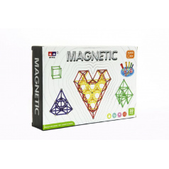 Teddies Magnetická stavebnica 99ks v krabici 28x19x5cm