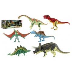 Teddies Sada Dinosaurus hýbající se 6ks plast v krabici 48x17x13cm