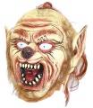 obličejová maska vlkodlak - latex