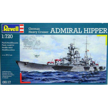 model Revell 05117 loď Cruiser Admiral Hipper