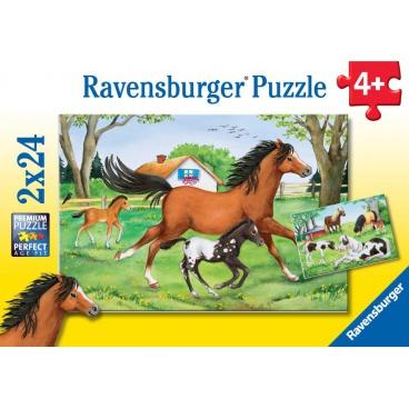 Ravensburger dětské puzzle Svět koní    2x24p
