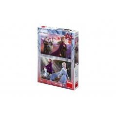 Dino Puzzle 2v1 Ledové království II/Frozen II 2x77dílků v krabici 19x27,5x4cm