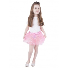 Dětský kostým sukně TUTU růžová s dekorem