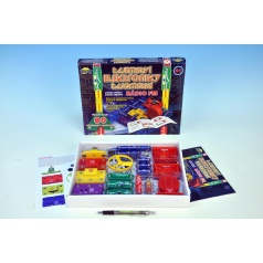 Dromader Tajemství elektroniky - Rádio 80 experimentů na baterie v krabici 30x24,5x3,5cm od 6 let
