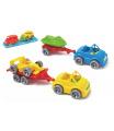 Auto s přívěsem 7x24cm plast na volný chod mix druhů ve fólii Kid Cars Sport Wader