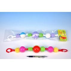Profibaby Řetěz/zábrana koule/kytičky plast 41cm 0m+