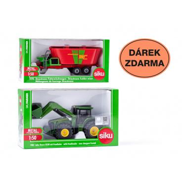 SIKU Farmer -Traktor John Deere s předním nakladačem + dárek