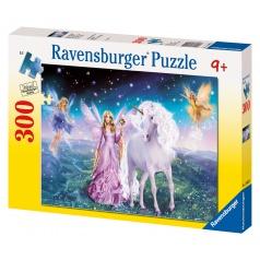 Ravensburger puzzle Kouzelný jednorožec 300d
