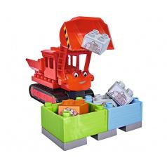 PlayBig BLOXX Bořek Max červený buldozer