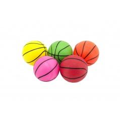 Teddies Loptička basketbal guma 8,5cm 5 farieb v sieťke