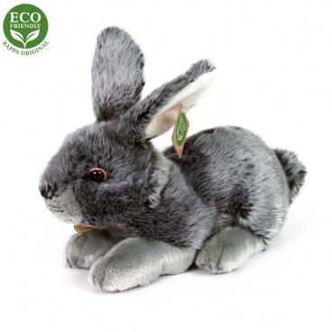 Rappa Plyšový králík šedý 25 cm ECO-FRIENDLY