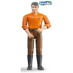 Bruder Svět - Figurka muž ve hnědých kalhotách, světlá pleť