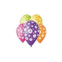 Smart Balloons Balónik nafukovacie kvety 12 '' priemer 30cm 5ks v sáčku