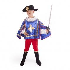 Dětský kostým mušketýr modrý vel. S