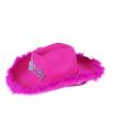 Rappa klobouk kovbojský růžový s korunkou dámský