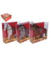 Wiky Kůň se sedlem  fliška 16cm 3 barvy v krabičce 16x16x5,5cm