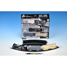 Vlak s koľajami plast 67cm na batérie v krabici