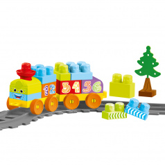 DOLU Dětská vlaková souprava, 36 ks