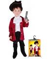 dětský karnevalový kostým kapitán pirátů Hook velikost S