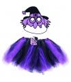 Dětský karnevalový kostým čarodějnice - sukně tutu + maska